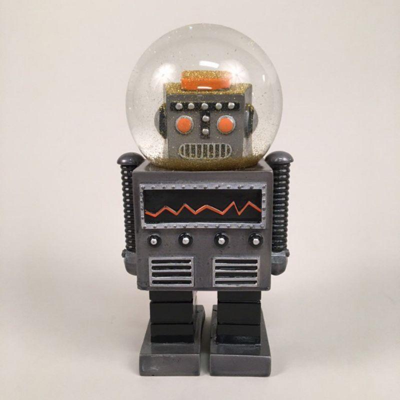 Robot-glimmerkugle, sort. Stor 1
