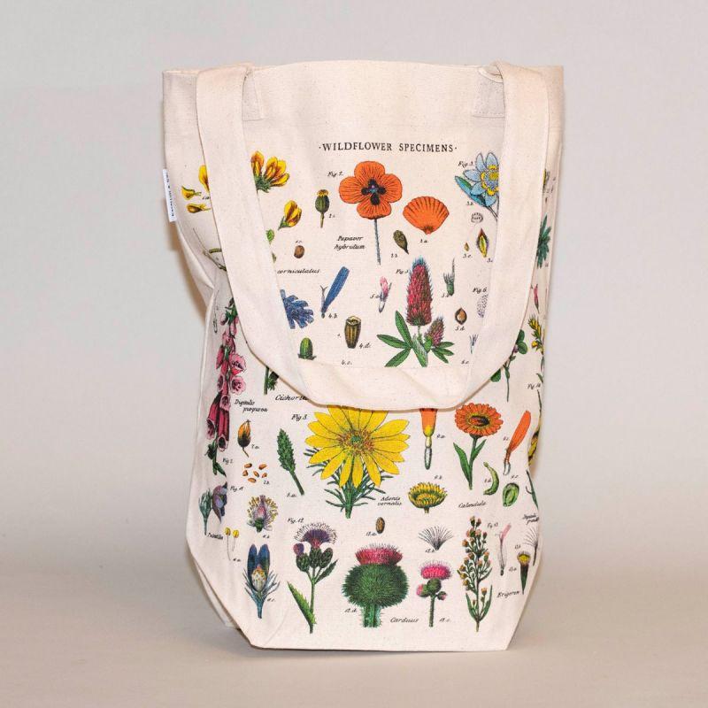 Indkøbsnet med motiv af vilde blomster 1