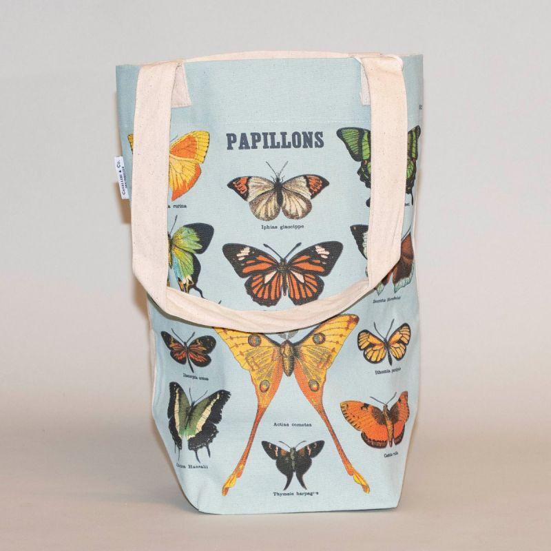 Indkøbsnet med motiv af forskellige sommerfugle  1