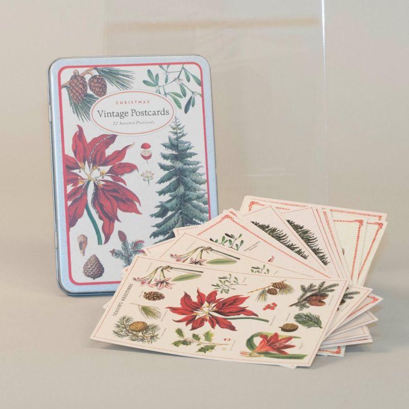 Postkort i metalæske med julemotiv 1