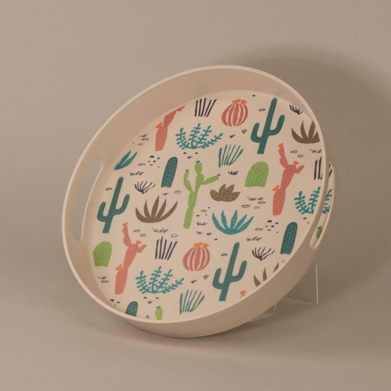 Serveringsbakke med kaktus-motiv 1