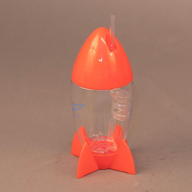 Vandflaske med sugerør, raketmotiv 1