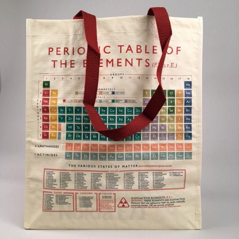 Indkøbstaske det periodiske system lille 1