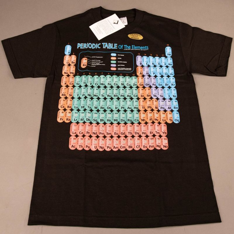 T-shirt Periodisk System Sort 1