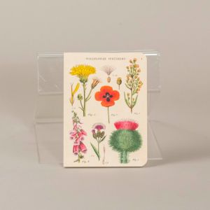 Notesbog med motiver af vilde blomster