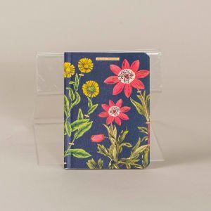 Notesbog med motiver af blomster og planter