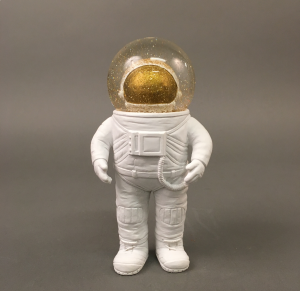 Astronaut Glimmerkugle lille 16,5 cm høj