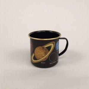 Emaljekrus med solsystemet