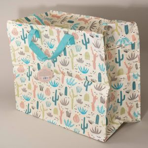 Indkøbstaske kaktus stor