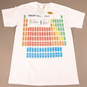 T-shirt Periodisk System Hvid