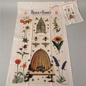 Viskestykke bier og blomster