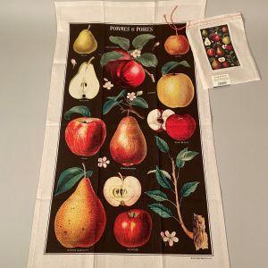 Viskestykke æbler og pærer